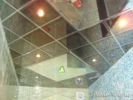Зеркальный каркасный подвесной потолок