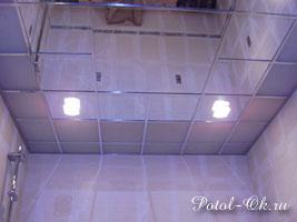 Зеркальный потолок в ванной комнате зеркальные потолки в интерьере ванной Зеркальные Зеркальный потолок в ванной...