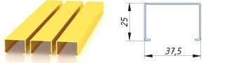 Реечный потолок - кубообразная рейка