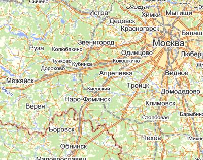 География населенных пунктов -обслуживаемых нашей компанией